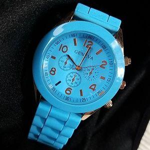 GENEVA watch * Copper & blue color